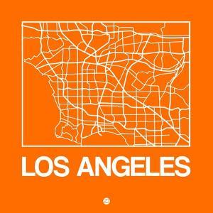 Orange Map of Los Angeles by NaxArt