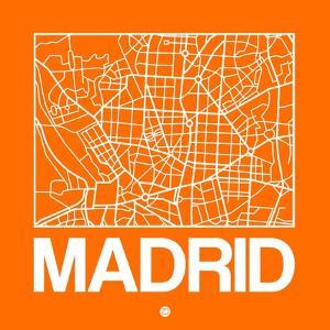 Orange Map of Madrid by NaxArt
