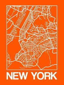 Orange Map of New York by NaxArt