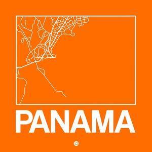 Orange Map of Panama by NaxArt