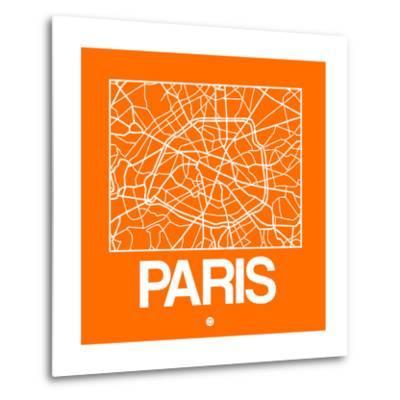 Orange Map of Paris