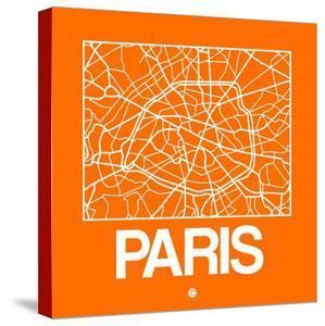 Orange Map of Paris by NaxArt