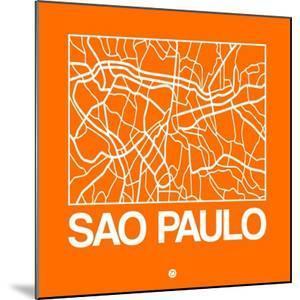 Orange Map of Sao Paulo by NaxArt