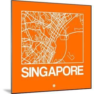 Orange Map of Singapore by NaxArt