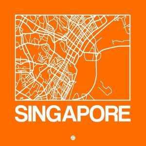 Orange Map of Singapore by NaxArt