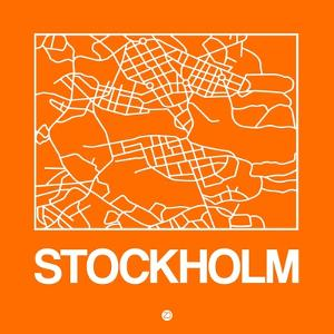 Orange Map of Stockholm by NaxArt
