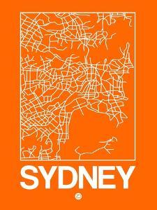 Orange Map of Sydney by NaxArt
