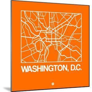 Orange Map of Washington, D.C. by NaxArt