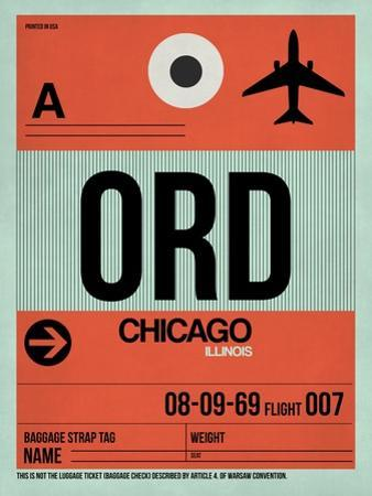 ORD Chicago Luggage Tag 2 by NaxArt