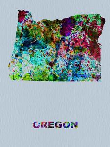 Oregon Color Splatter Map by NaxArt