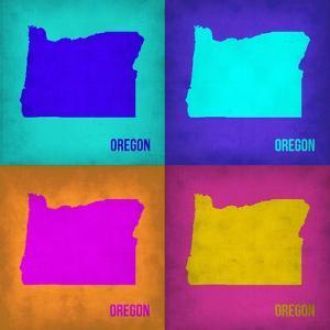 Oregon Pop Art Map1 by NaxArt