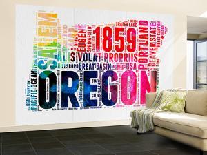 Oregon Watercolor Word Cloud by NaxArt