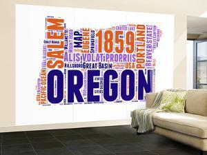 Oregon Word Cloud Map by NaxArt