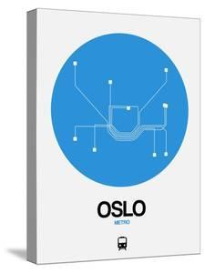 Oslo Blue Subway Map by NaxArt