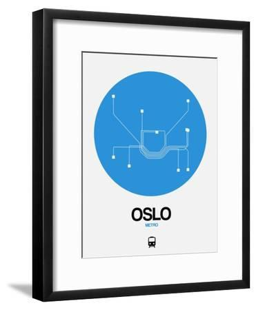 Oslo Blue Subway Map