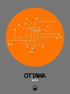 Ottawa Orange Subway Map by NaxArt