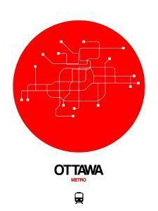 Ottawa Red Subway Map by NaxArt