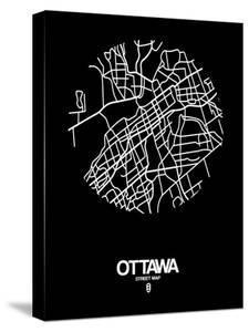 Ottawa Street Map Black by NaxArt