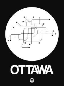Ottawa White Subway Map by NaxArt