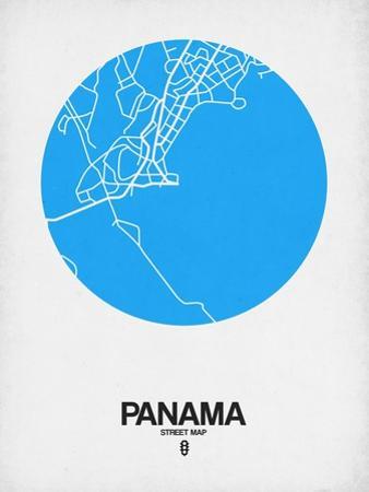 Panama Street Map Blue by NaxArt