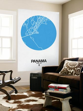 Panama Street Map Blue