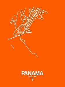 Panama Street Map Orange by NaxArt