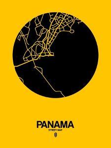 Panama Street Map Yellow by NaxArt