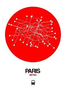 Paris Red Subway Map by NaxArt