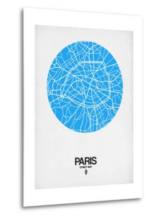 Paris Street Map Blue