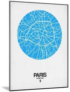 Paris Street Map Blue by NaxArt