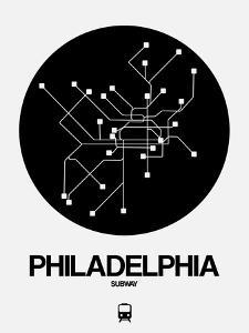 Philadelphia Black Subway Map by NaxArt