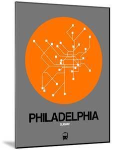 Philadelphia Orange Subway Map by NaxArt