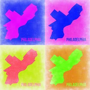Philadelphia Pop Art Map 1 by NaxArt