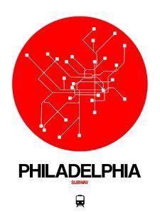 Philadelphia Red Subway Map by NaxArt