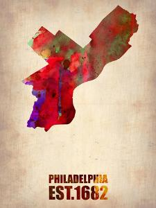 Philadelphia Watercolor Map by NaxArt