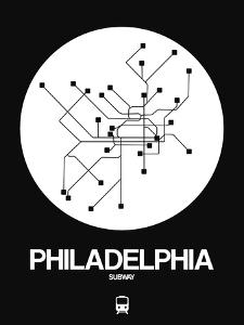 Philadelphia White Subway Map by NaxArt