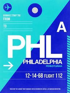 PHL Philadelphia Luggage Tag 1 by NaxArt