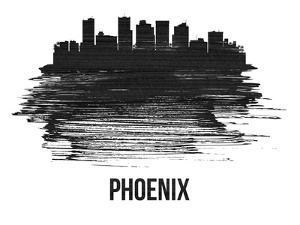 Phoenix Skyline Brush Stroke - Black II by NaxArt