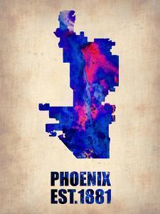 Phoenix Watercolor Map by NaxArt
