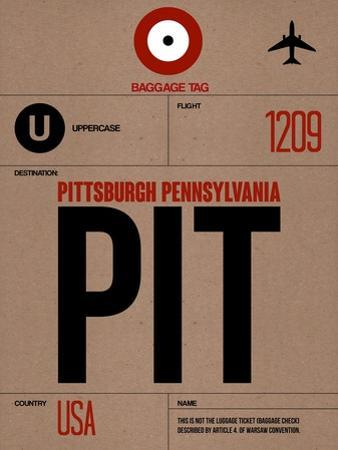 PIT Pittsburgh Luggage Tag 1 by NaxArt