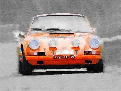 Porsche 911 Race Track Watercolor