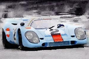 Porsche 917 Gulf Watercolor by NaxArt