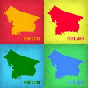 Portland Pop Art Map 1 by NaxArt