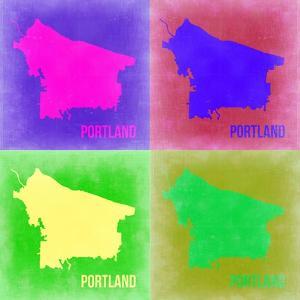 Portland Pop Art Map 2 by NaxArt