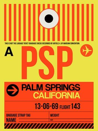 PSP Palm Springs Luggage Tag I by NaxArt