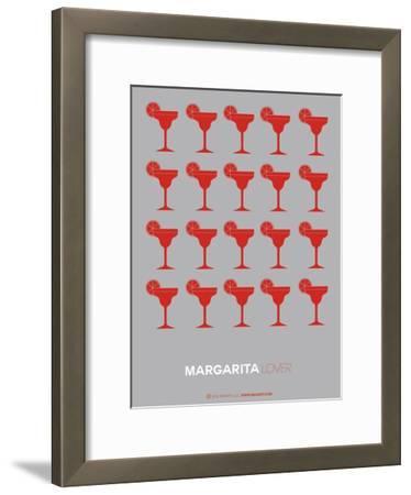 Red Margaritas Grey Poster