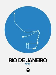 Rio De Janeiro Blue Subway Map by NaxArt