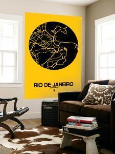Rio de Janeiro Street Map Yellow by NaxArt