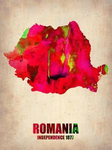 Romania Watercolor Poster by NaxArt