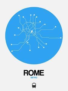 Rome Blue Subway Map by NaxArt
